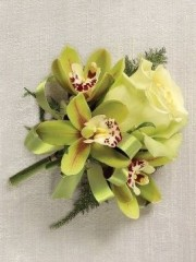 Jade Rose & Orchid Corsage