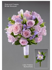 Lilac Freesia Buttonhole