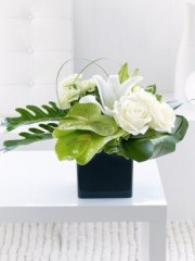 Anthurium, Lily and Rose Arrangement